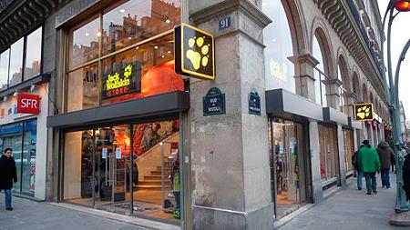 Jack Wolfskin, sklep w Paryżu