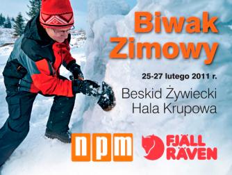 "Biwak zimowy, ""n.p.m."" Fjällräven"