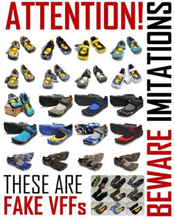 Zdjęcia podrobionych butów (fot. Vibram Fivefingers)