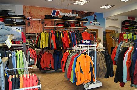 Stoisko firmowe marki Berghaus w sklepie Polar Sport (fot. Berghaus)