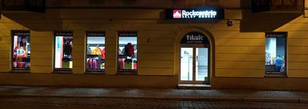 Rockcentric - wejście do firmowego sklepu marki Tilak (fot. Rockcentric)