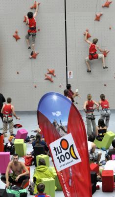Zawody wspinaczkowe na OutDoor Show 2010 (fot. Messe Friedrichshafen)