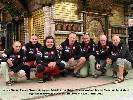 Prawie pełen skład wyprawy na Makalu (fot. Polski Himalaizm Zimowy 2010-2015)