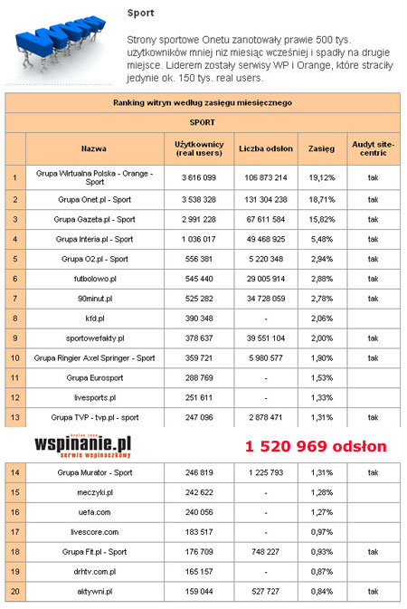 Megapanel PBI/Gemius - czerwiec 2011
