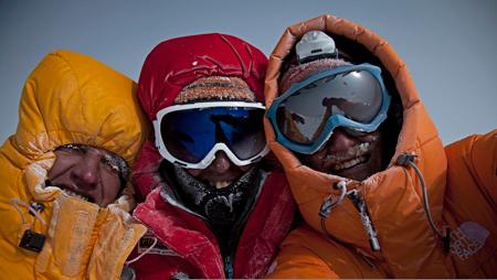 Simone Moro, Denis Urubko i Cory Rchards (fot. arch. Cory Richards)