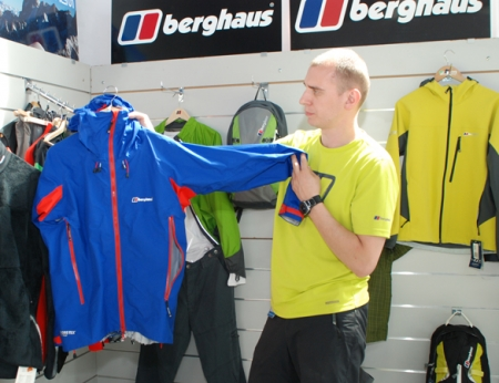 Berghaus, Jędrzej Chmurzyński prezentuje kurtkę Asgard
