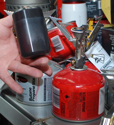 MSR, palnik Microrocket i jego opakowanie