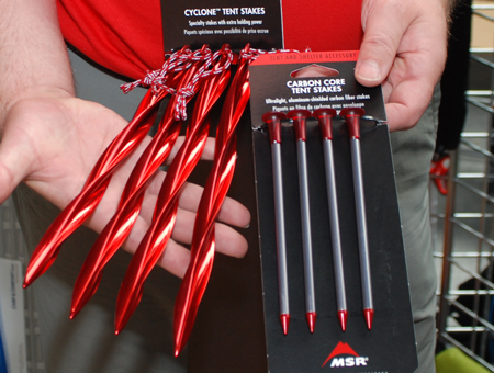 MSR, Cyclon Tent Stakes i Carbon-Core Tent Stakes