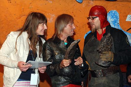 Magda Ziaja, Alain Robert i Bartek Kolbusz (fot. wspinanie.pl)