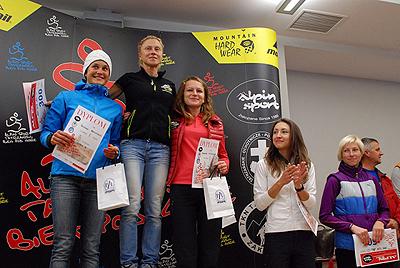 Podium kobiet (fot. Piotr Turkot/wspinanie.pl)
