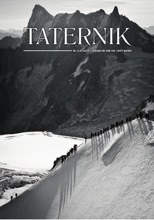 Przewodnicy i ich klienci wychodzący z górnej stacji kolejki na Aiguille du Midi. Zdjęcie zostało wykonane we wrześniu 2011 r., po przejściu przez Pawła Strzeleckiego i Macieja Ostrowskiego drogi Peuterey Intégral (VI+, TD+ ED 1) w masywie Mont Blanc. Fot