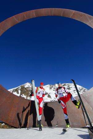 Kadra juniorów w narciarstwie wysokogórskim w Andorze (fot. Monika Strojny)