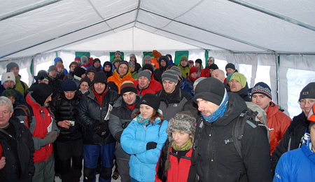 TryTool 2012 - Publiczność podczas losowania podarunków od sponsora imprezy (fot. wspinanie.pl)