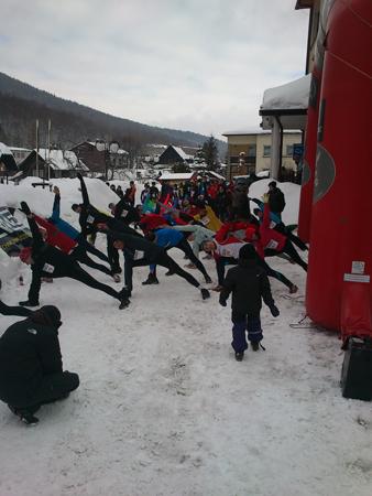 RMD Winter Run - Rozgrzewka przed biegiem (fot. Publink)