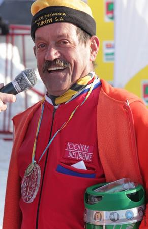 Najstarszy w tym sezonie biegacz w SNS-ie Józef Żuk (fot. Stacja Jakuszyce)