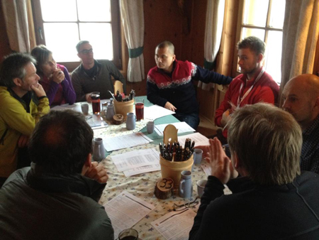 Obrady i testy jury nagrody Scandinavian Outdoor Award w Hintertux (fot. Scandinavian Outdoor Award)