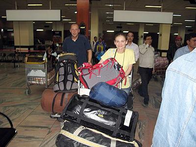 Kinga i Paweł po wylądowaniu w Katmandu (fot. arch. Kinga Baranowska)
