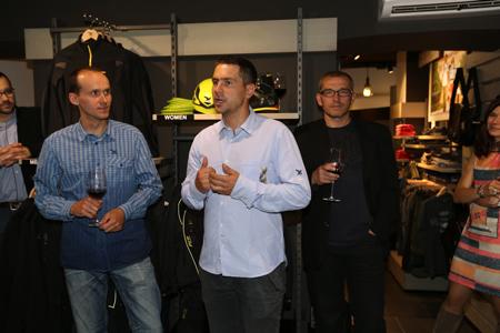 Tomasz Gorszko i Jacek Grzędzielski otwierają Salon Firmowy Salewa w Warszawie (fot. Salewa)