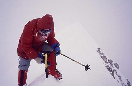 1987 rok - Jerzy Kukuczka na wierzchołku Annapurny (fot. Artur Hajzer)