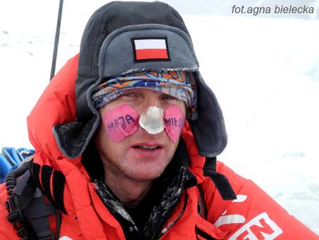 Wyprawa na Gasherbrum I - Janusz Gołąb po zejściu do bazy (fot. agna bielecka)