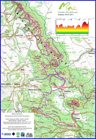 Maraton Gór Stołowych - mapa