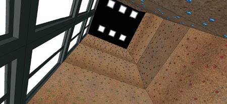 Solclimb - modułowa ściana wspinaczkowa - wnętrze