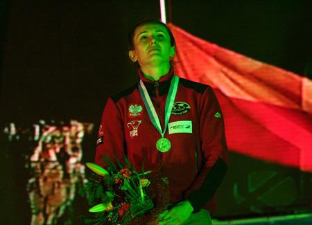 Edyta ze srebrnym medalem w Xining (fot. Arkadiusz Kamiński)
