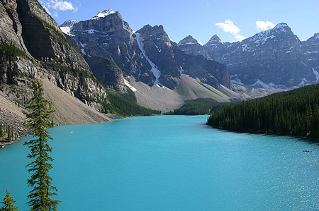 Moraine Lake w Parku Narodowym Banff (fot. Janusz Kurczab)