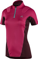 adidas, koszulka Trail Riot Short Sleeve ½ Zip W