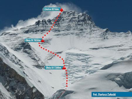 Droga na Lhotse (fot. Dariusz Załuski)
