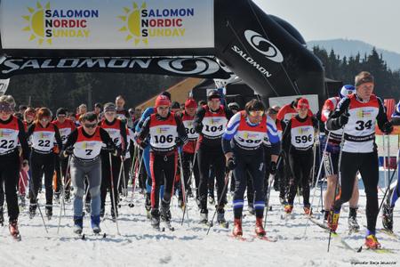 Finałowy bieg Salomon Nordic Sunday 2012 (fot. Stacja Jakuszyce)
