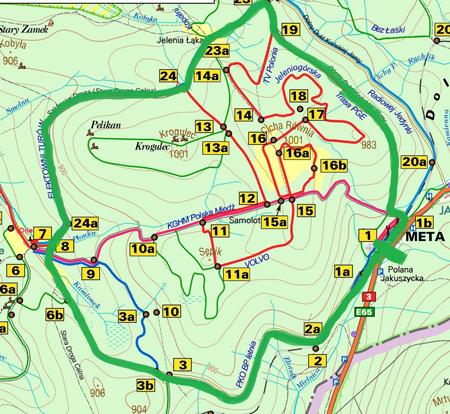 Trasa niedzielnego Biegu Inauguracyjnego czwartego sezonu Salomon Nordic Sunday liczy ok. 13 km (fot. Stacja Jakuszyce)