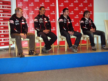 Uczestnicy wyprawy. Od lewej: Maciej Berbeka, Adam Bielecki, Tomasz Kowalski i Artur Małek (fot. Janusz Kurczab)