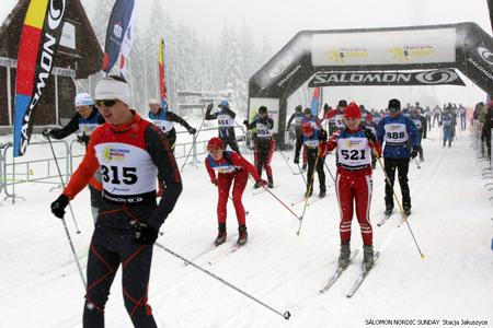 Zawodnicy Salomon Nordic Sunday po raz pierwszy pojawią się w Lubomierzu (fot. Stacja Jakuszyce, Centrum Biegowe Salomon)