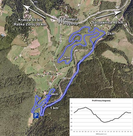 Trasa biegu w Lubomierzu jest bardzo ciekawa, z kilkoma długimi podbiegami