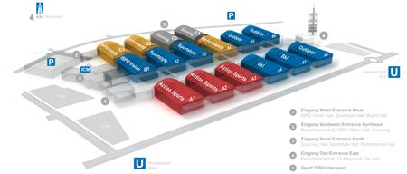ISPO MUNICH, ogólny plan targów