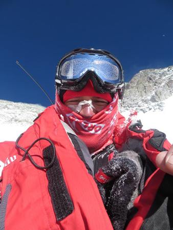 Adam Bielecki podczas akcji górskiej (fot. Adam Bielecki)