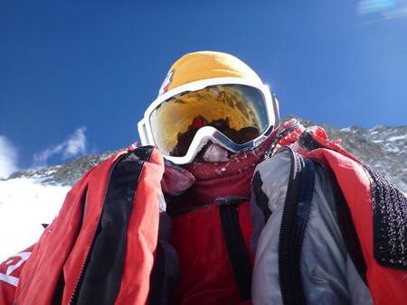 Artur Małek podczas akcji górskiej (fot. Artur Małek)