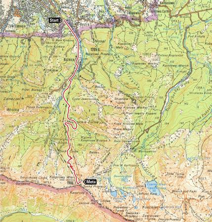 Polartec® Alpin Sport Tatrzański Bieg Pod Górę 2013 - trasa biegu
