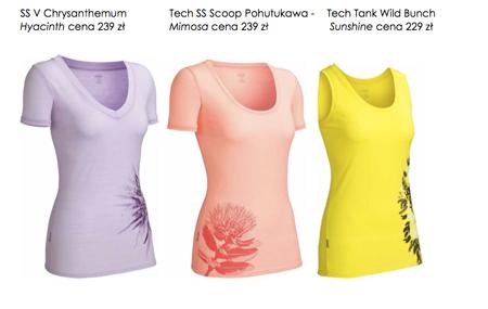Icebreaker, damska kolekcja koszulek