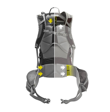 The North Face, system Opti-Fit