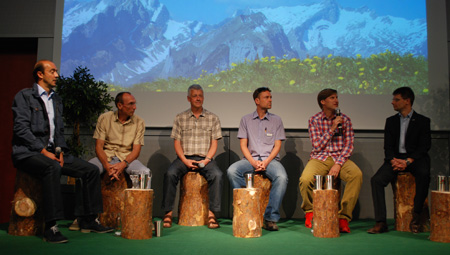 International OutDoor Press Conference. Od lewej: Frederic Hufkens, CEO A.S. Adventure, Bernd Kullmann, CEO Schwan-Stabilo Outdoor, Vize-Präsident EOG, Mark Held, Secretary General, European Outdoor Group (EOG), Stefan Reisinger, Show Director OutDoor, Me