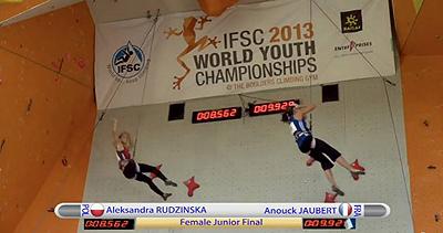Ola w finałowym biegu (fot. Poland Climbing Team)