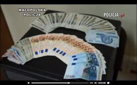 Kadry z materiałów operacyjnych krakowskiej policji (źródło: policja.pl)