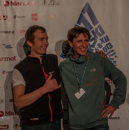 11. Krakowski Festiwal Górski - Leo Houlding i Piotr Turkot na 11. KFG (fot. Dariusz Porada)
