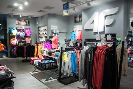 Nowy sklep marki 4F w Ch Wola Park w Warszawie