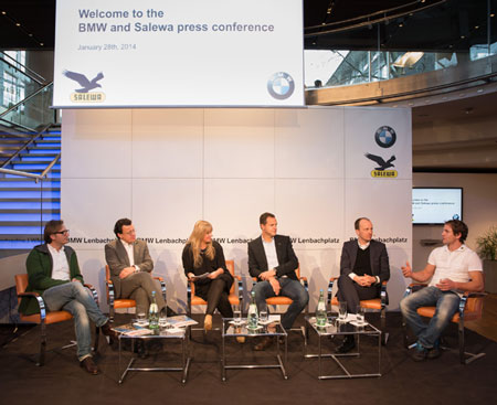 Konferencja prasowa BMW i Salewa na ISPO MUNICH 2014