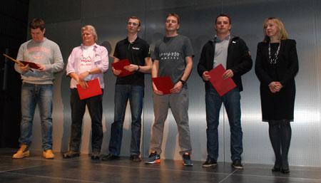 Targi Kielce Sport-Zima 2014 - nagrodzeni za aranżacje stoiska (fot. 4outdoor)