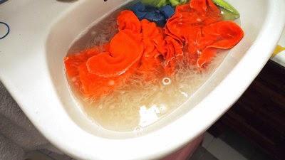 Jeśli producent zalecał wypranie przed użyciem, ręczniki zostały wyprane