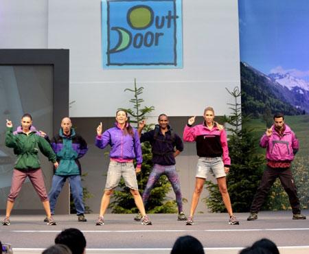 Pokaz mody i trendów na targach OutDoor 2013 (fot. Messe Friedrichshafen)
